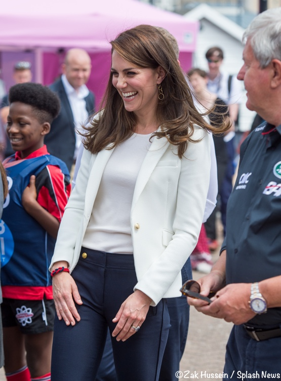 Kate Middleton Duchess Cambridge white Zara blazer J Crew Sailor pants