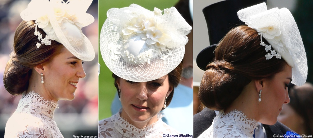 It s White Lace by Alexander McQueen for Royal Ascot » Kate Royal Ascot Day  One June 2017 White Lace McQueen Hat Photos 0bc86ec8876f