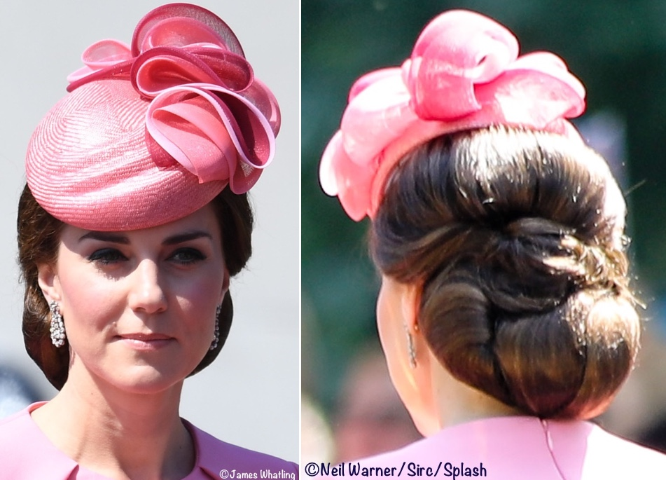 Kate Middleton Duchess Cambridge Trooping Colour Pink Hat