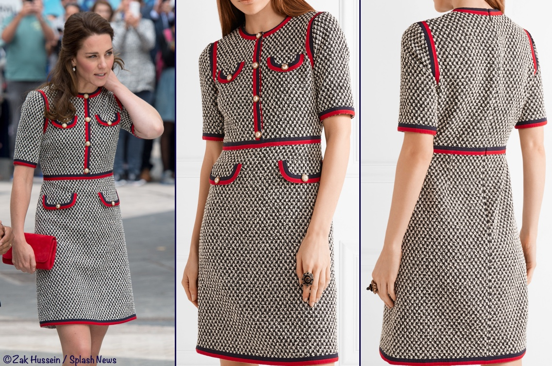 d126b33f6ed Pictures Kate Middleton Gucci Tweed Dress