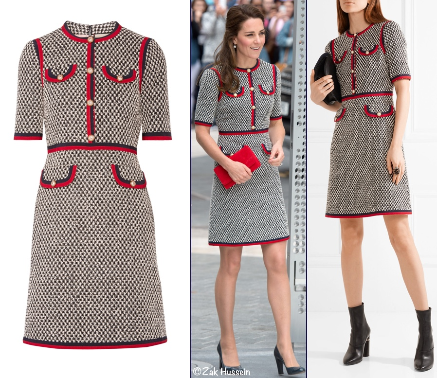 1790d650274 Kate Middleton Gucci Web Grosgrain dress