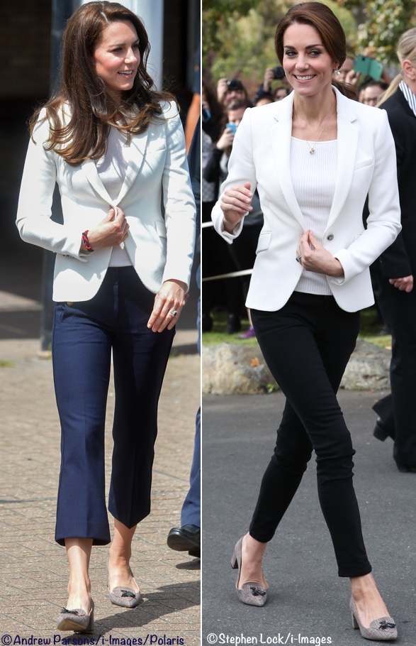 Kate Middleton Duchess Cambridge white Zara blazer J Crew Sailor pants Avery Tweed