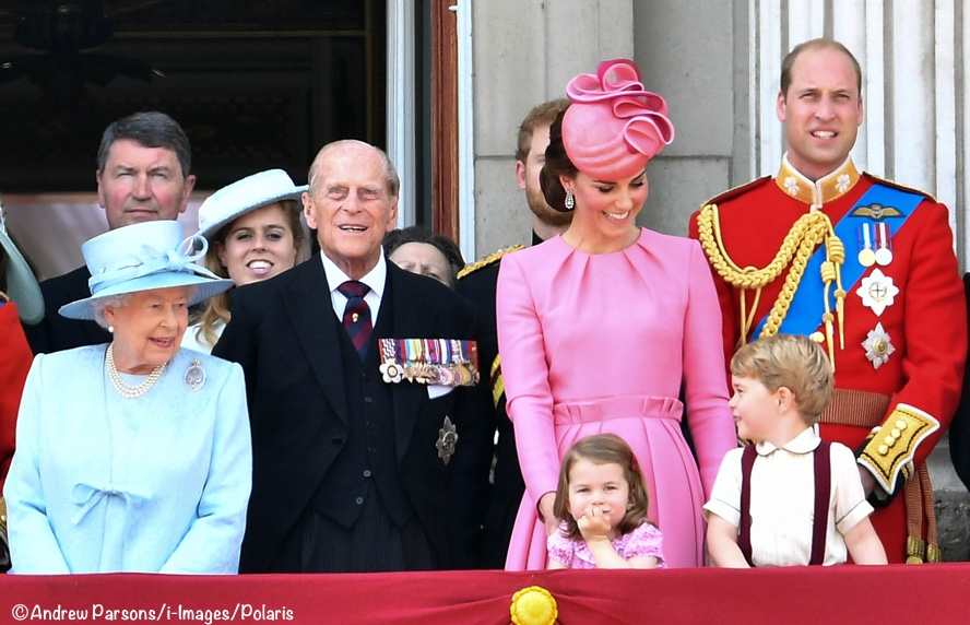 Kate Middleton George Charlotte Queen Trooping Colour 2017