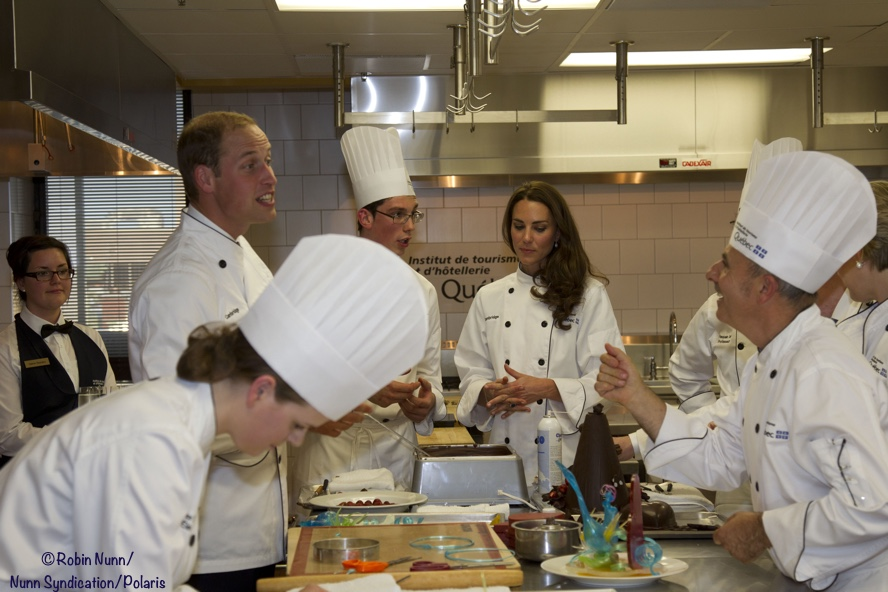 Duke Duchess Cambridge Cooking Class Quebec 2011 Kate Middleton Chef uniform