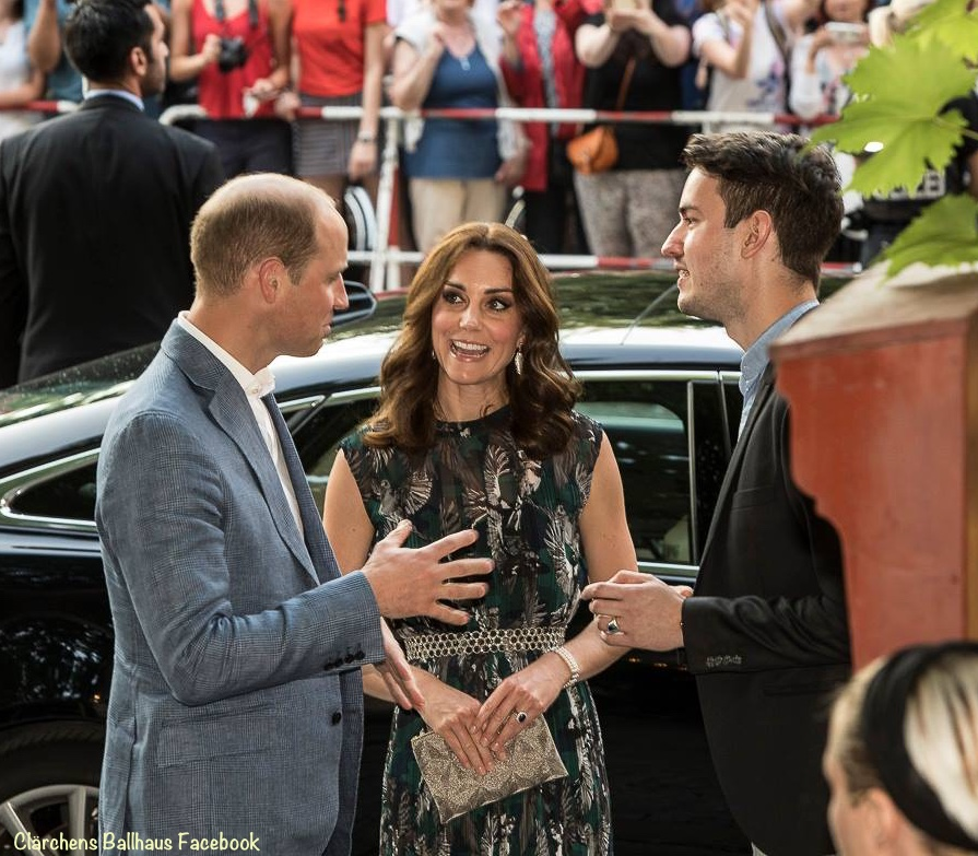 Duke Duchess Cambridge Clarchens Ballhaus Kate Middleton Markus Lupfer Royal Tour