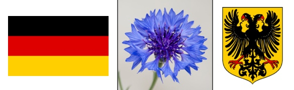 Germany Flag National Flower Coneflower Coat Arms Emblem