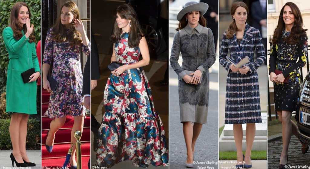 Kate Middleton Duchess Cambridge wearing Erdem Dresses Coats