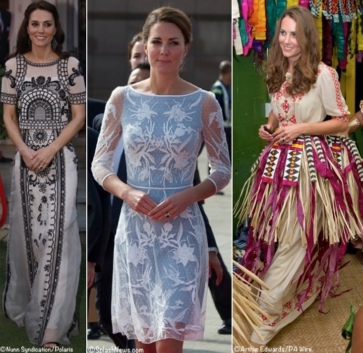 Kate Middleton Tour Temperley London DResses Photos
