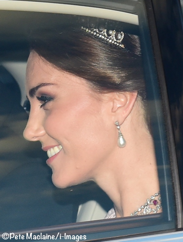 picture Kate Middleton Duchess Cambridge Pearl Diamond Tiara Princess Diana