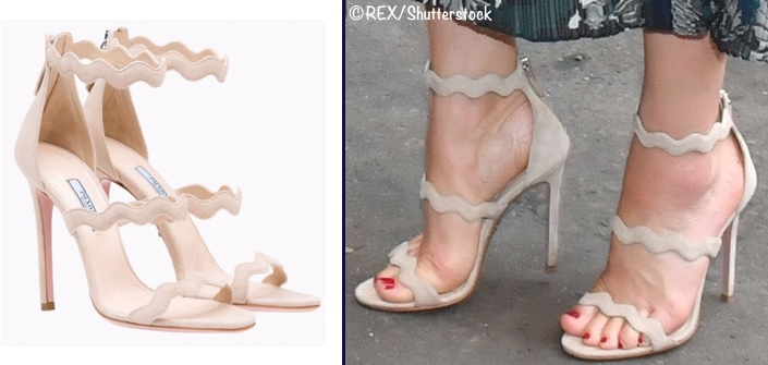 Kate Germany Day 2 Reception Ballhaus Scalloped Prada Sandal JUly 20 2017