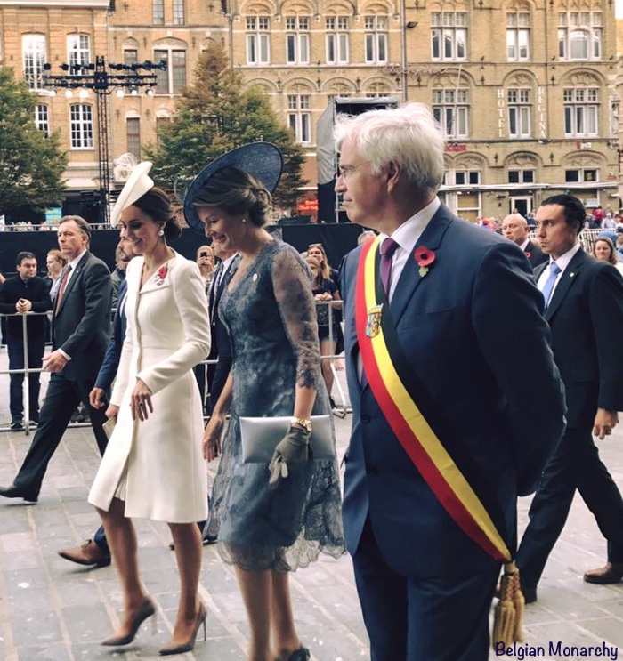 Kate Middleton Duchess Cambridge Queen Mathilde Passchendaele Battle
