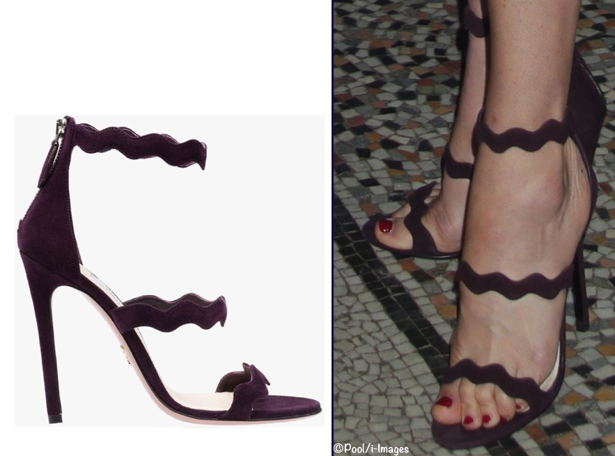 Kate Plum Prada Scalloped Sandal History Museum July 13 2017 Preen Dress Product i-Images