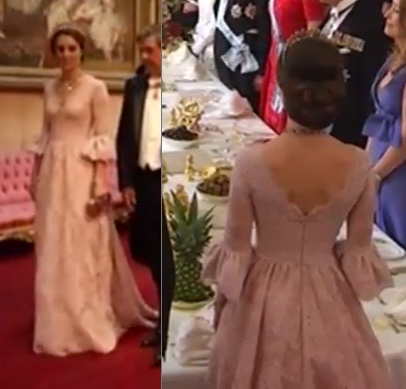 Kate Middleton State Banquet Marchesa Gown Dress
