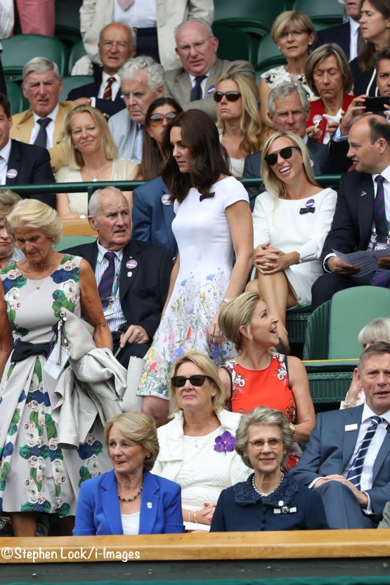 Kate Middleton Wimbledon July 16 2017 Catherine Walker White Flowers Dress