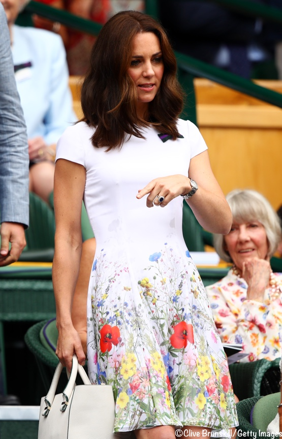 6f73dbd6500 Kate in Catherine Walker at Wimbledon - What Kate Wore