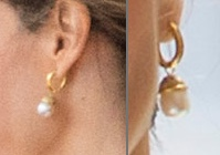 Letizia Pearl Drop earrings State Visit Morning Events July 12 2017