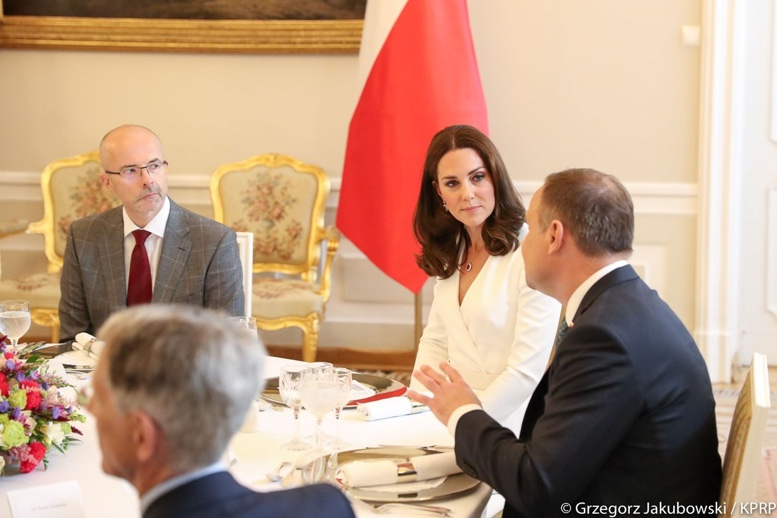 Poland Warsaw Lunch Presidential Palace Kate White McQueen July 17 2017 via Embassy
