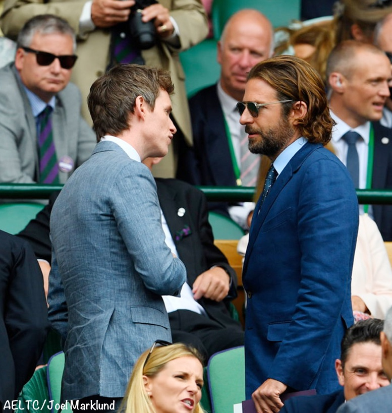 Eddie Redmayne Bradley Cooper Wimbledon Sunday Men's Final July 17 2017