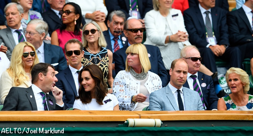 Kate Middleton Wimbledon Men's Finals Bulgari sunglasses