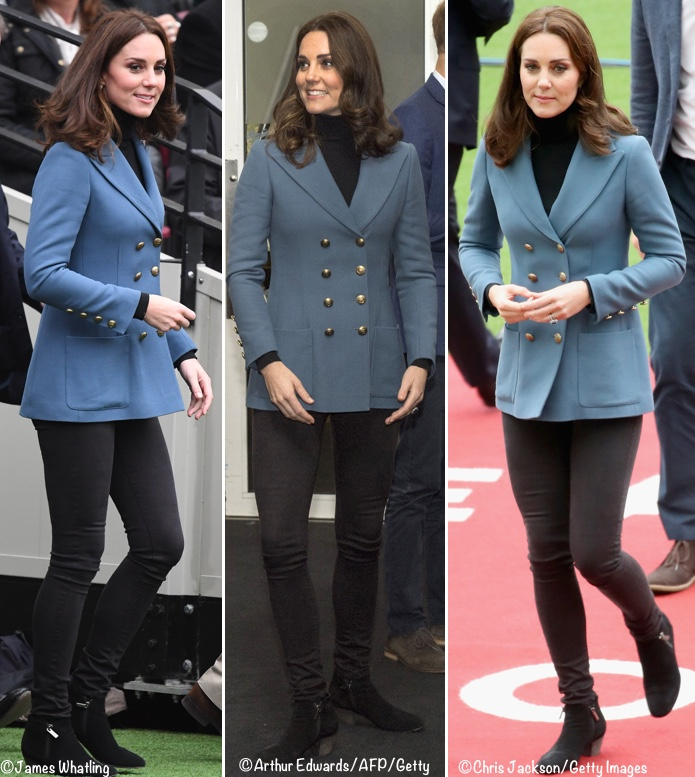 50b5c5c0e17 She was in a piece that may look familiar  Carly of Kate Middleton Style  immediately pegged it as the same jacket Kate has in red