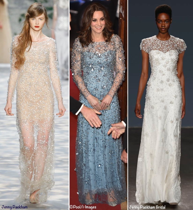 Kate Shines in Shimmering Jenny Packham Gown for Royal Variety ...
