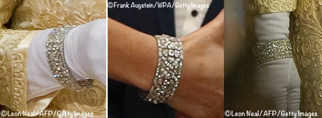 Kate in DVF and Diamonds at Freud Centre Gala » Queen Kate Quatrefoil  Bracelet Closeups State Open Parliament 2010 Freud Centre Gala Nov 7 2017