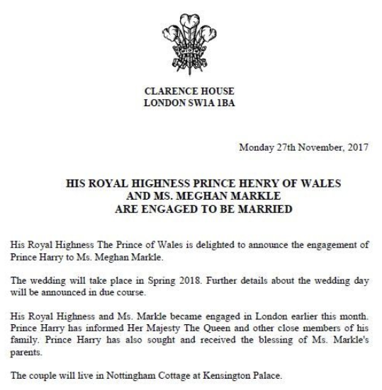 Kate & William 'Very Excited' For Prince Harry & Meghan