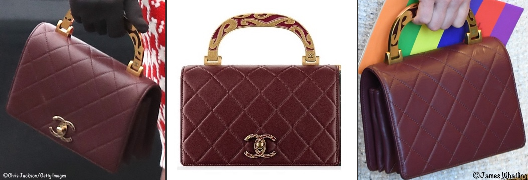 0a4347ba2091 Kate carried the Chanel handbag first seen in Paris. Paired with her Tod's  Fringed Leather Pumps in burgundy.