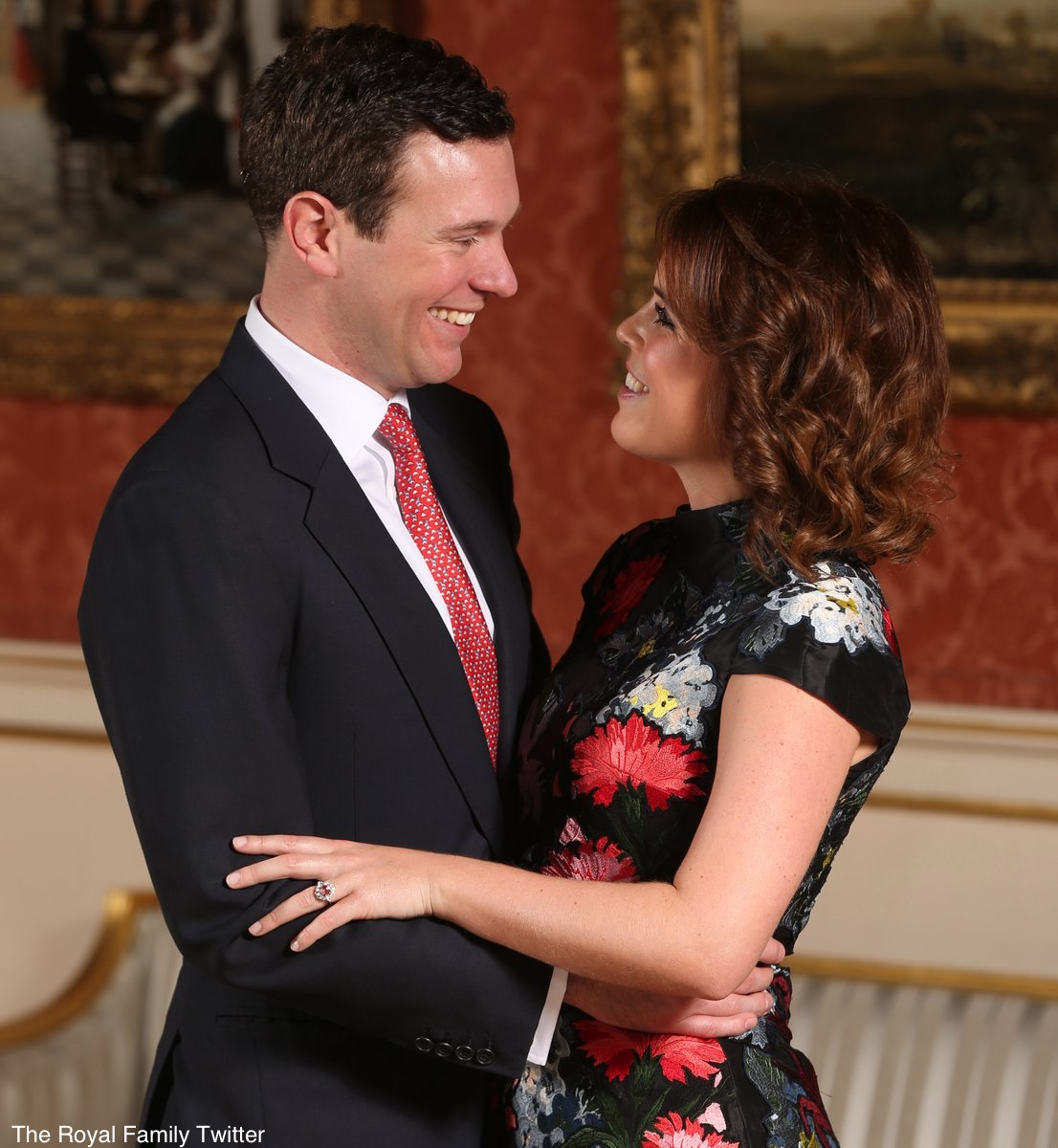 Princess Eugenie Jack Brooksbank Engagement Photo #1 Erdem Hetty Dress