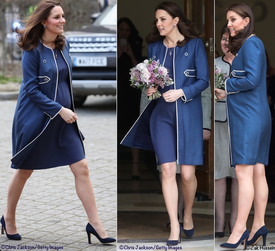 662ef186b77 Kate in Vibrant Blue for Hospital Engagements   New Patronage ...