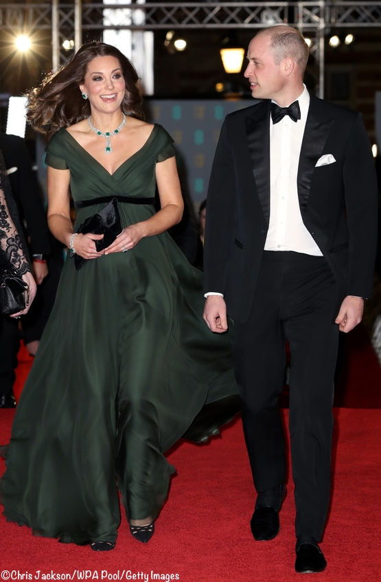 Kate William BAFTA Awards 2018 Archives What Wore