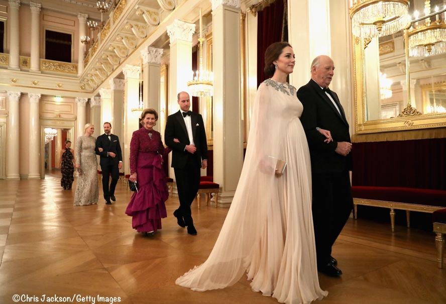 5c428058e5ef King Harald escorted Kate while Prince William was with Queen Sonja.