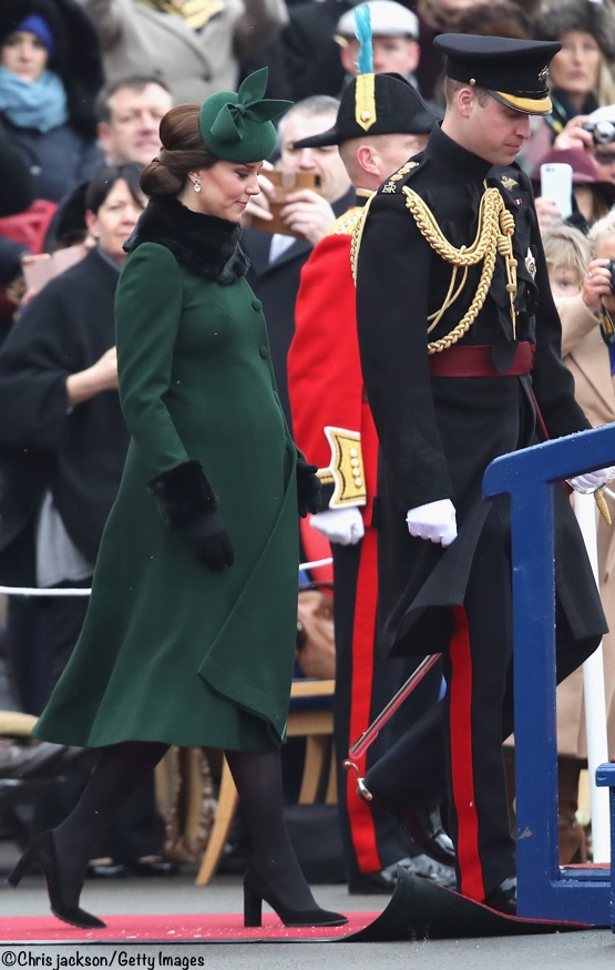 9bb5fc32 Kate in Green for St. Patrick's Day with the Irish Guards UPDATED ...