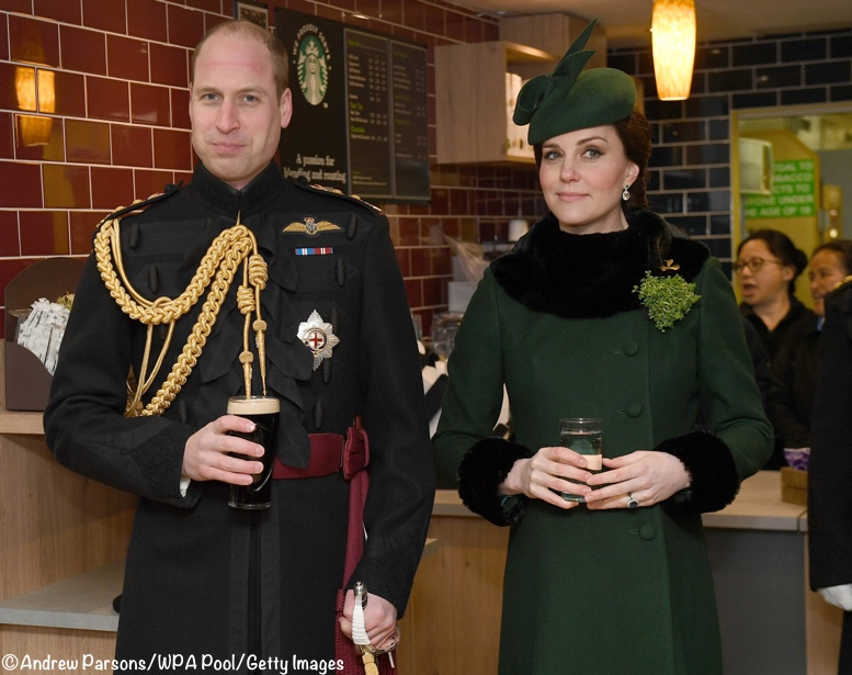 32d83a12c25 It looks like William was partaking of the traditional Guinness while the  Duchess had sparkling water with lemon.