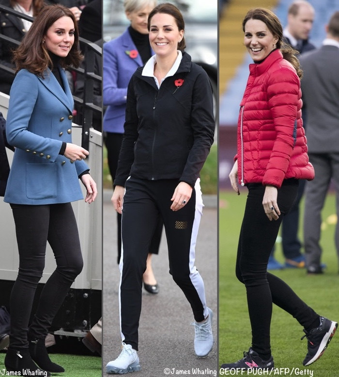 1901bb76fa8 In mid-November Kate had two engagements in Birmingham; at the second stop  she changed into her red Perfect Moment 'mini duvet' jacket and New ...