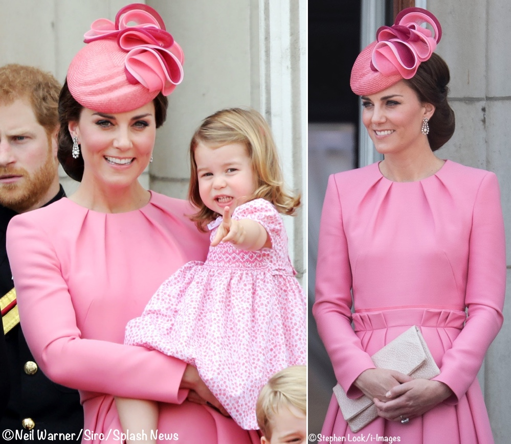 A Christening Date Poll Results Spot Of Hy News Kate 2017 Trooping The Colour Montage Hot Pink Mcqueen Dress Jane Taylor Hat June 17 2018
