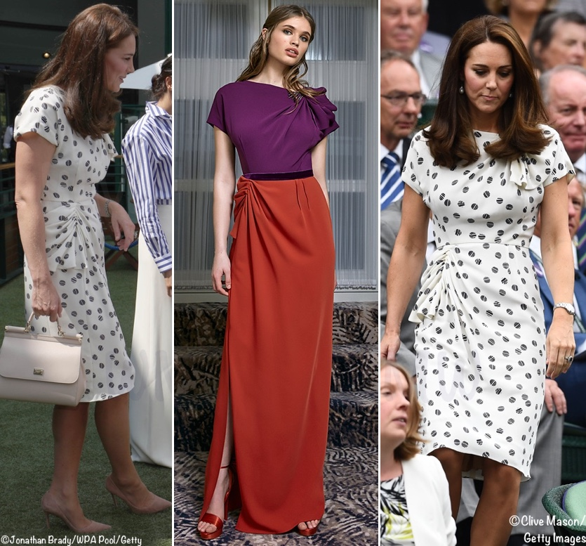 454fefe1635 Some of the most dramatic changes we see are those made to Alexander  McQueen pieces. Below, Kate at Prince George's christening, with the RTW  dress shown on ...