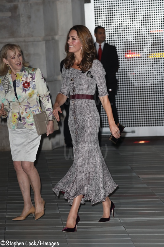0e723364d12a Kate Wears Erdem in a Prince of Wales Check for V A Engagement ...