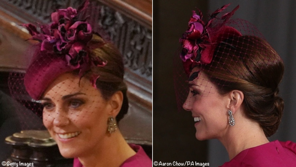 It s a Peter Pilotto Wedding Gown for Princess Eugenie   Kate Wore Alexander  McQueen » Kate Philip Treacy Hat Eugenie Wedding Oct 12 2018 Two Shots 29919abf901