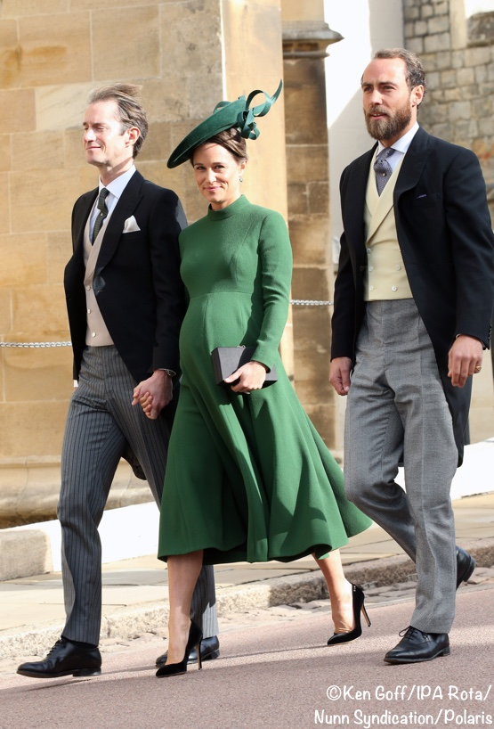 3a95a9fff0ab Guests started arriving early at St. George's Chapel, Windsor, on a windy  morning. Pippa and James Matthews with James Middleton.