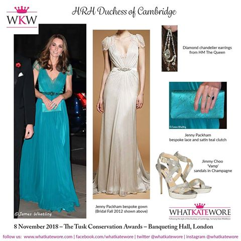88897413d460 The Return of the Teal Jenny Packham! Plus, A New Photo Of Prince ...
