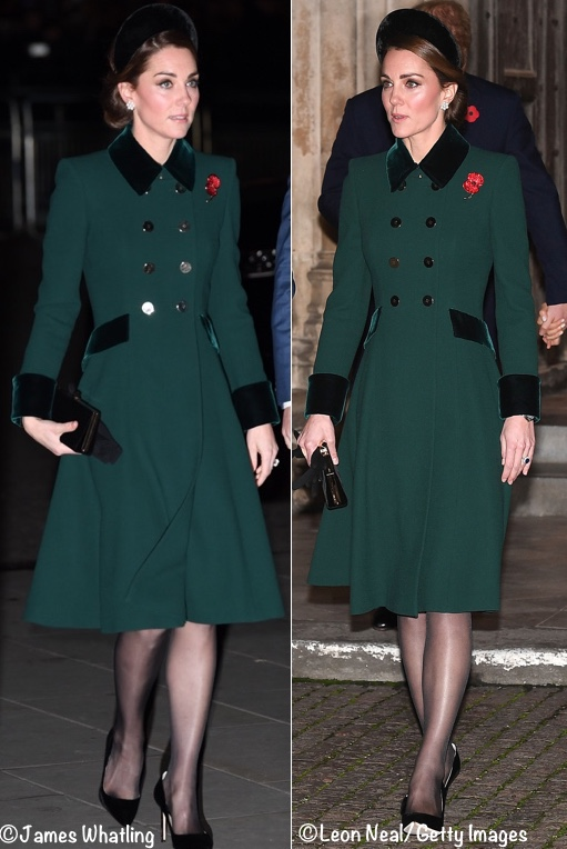 4d2fc07163 Kate was in a coat by Catherine Walker that is very much a favorite of the  Duchess s fashion followers.