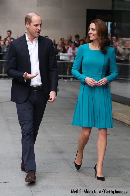 Kate Middleton turquoise Wickstead BBC