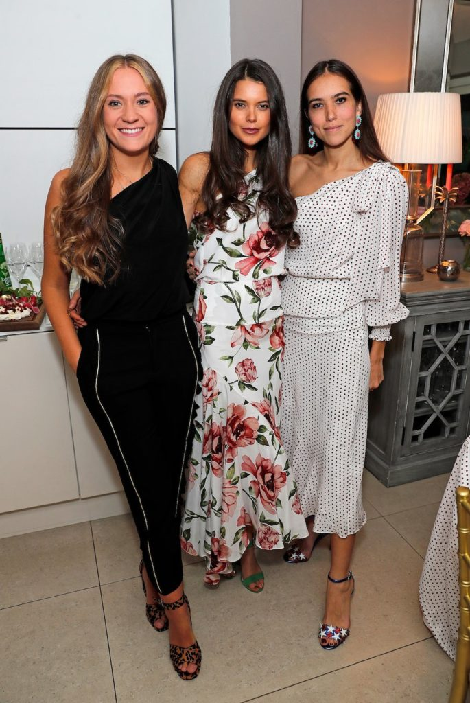 7ee70e26fd The women are seen at a dinner party held at Sara Madderson s London  townhouse. (You can read all about the elegant affair on the Madderson  London blog.