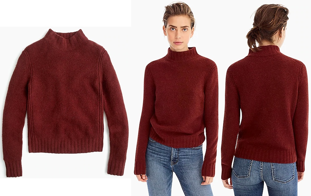 c08553eec85 Kate in Dubarry and Chloé for Garden Visit   The Designing Duchess! » Kate J  Crew Mockneck Sweater Supersoft Yarn Jan 15 2019 All Product Shots