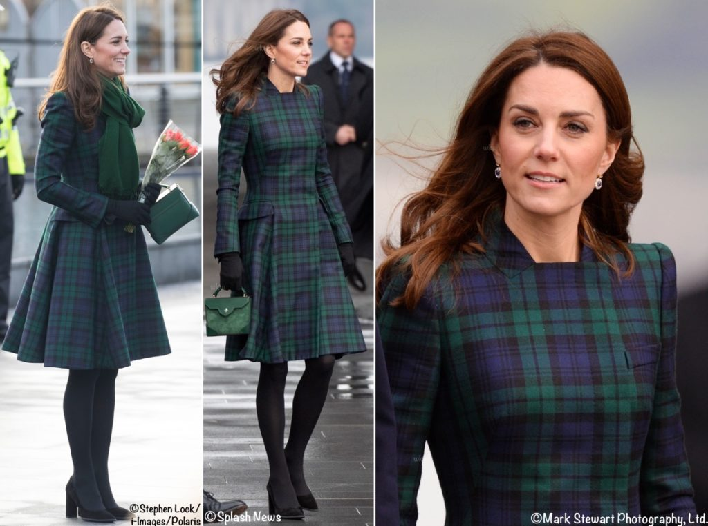1c775758e69 Kate Brings Back Black Watch Coat for Dundee Engagements - What Kate ...