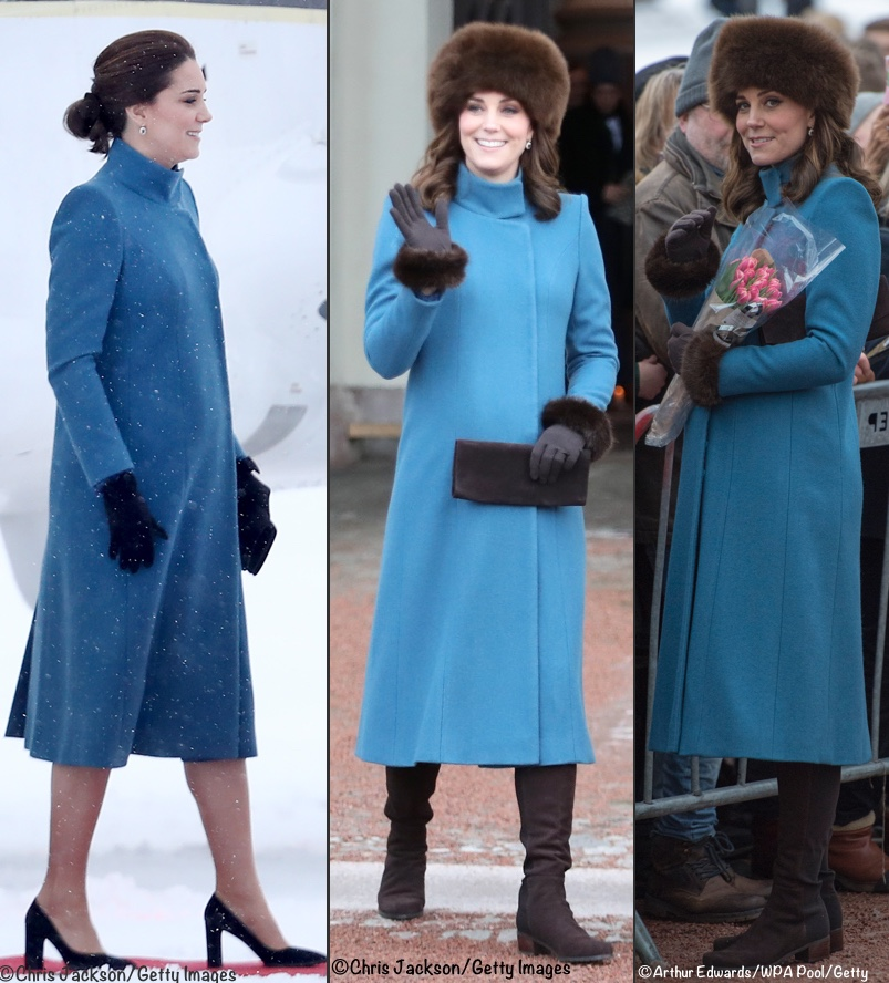 8ea853a4cd ... beginning with the blue Catherine Walker coat. Many immediately  remembered when it was first worn in Oslo
