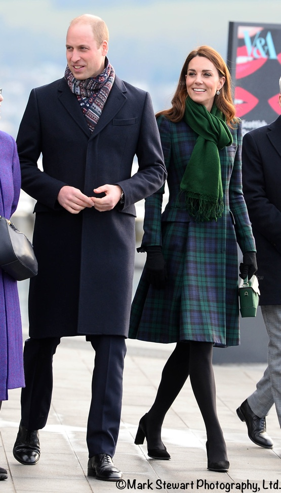 Kate Brings Back Black Watch Coat for Dundee Engagements - What Kate ... 2e5b1051d768a