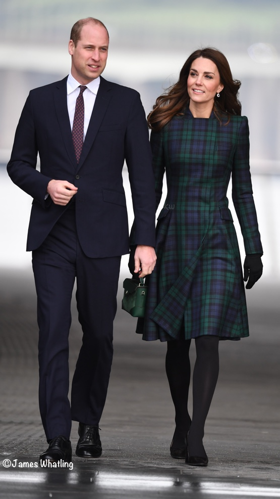 3af491e6d85 Kate Middleton black watch plaid coat McQueen Archives - What Kate Wore