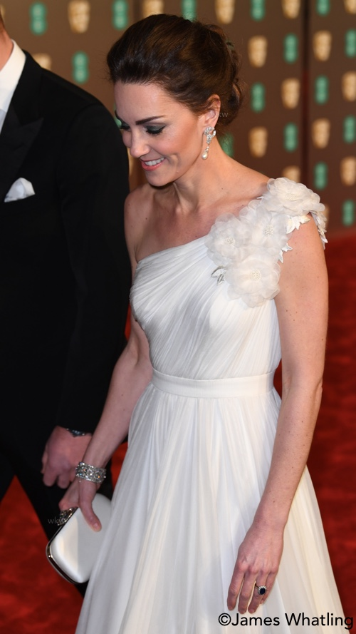4956c130f5 Kate in Alexander McQueen and Princess Diana s Earrings for BAFTA ...